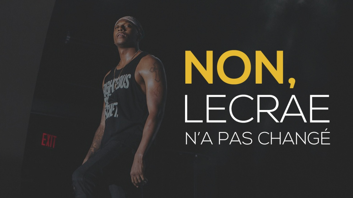 Non, Lecrae n'a pas changé !