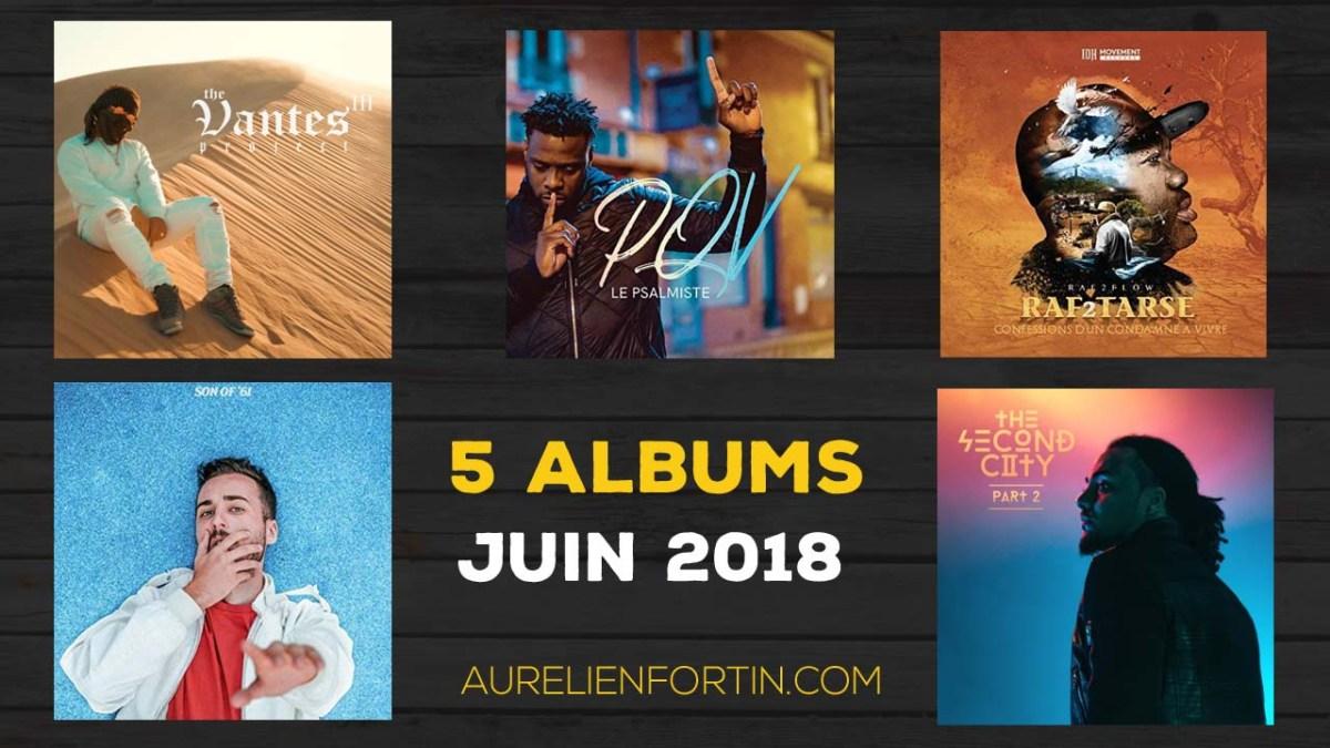 Mes 5 albums de juin 2018