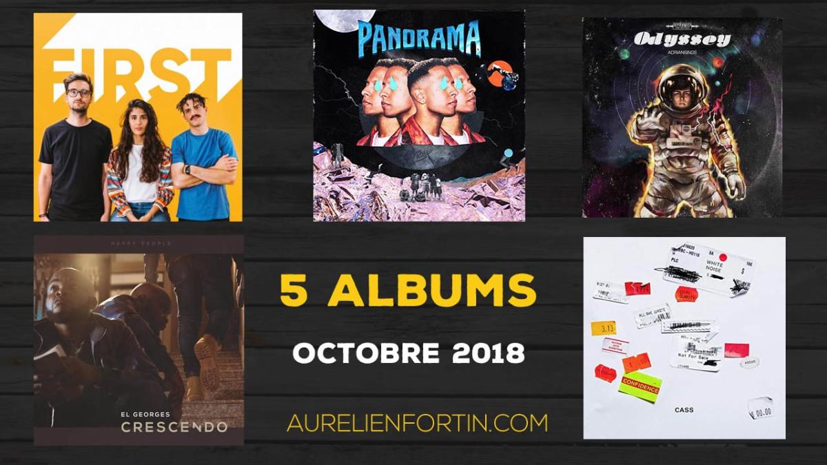 Mes 5 albums d'octobre 2018